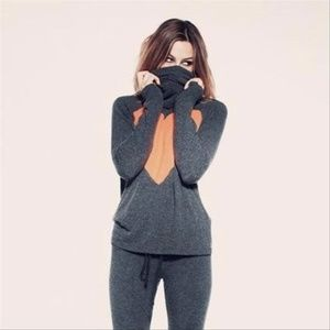 Wildfox The Lover Heart Turtleneck Sweater Gray S